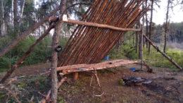 location long term wilderness survival shelter