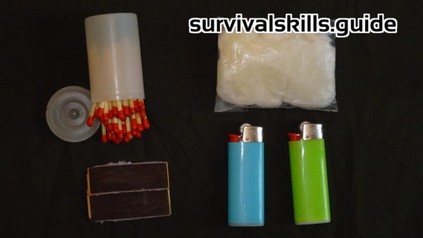 wilderness survival kit fire