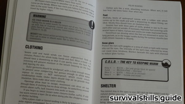 survival books clothing