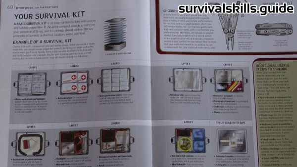 survival books kits
