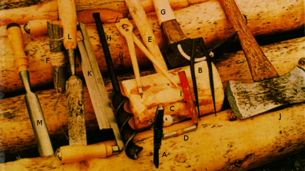 The Tools of Dick Proenneke labeled