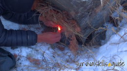 How to Start a Fire with Only One Match in Difficult Conditions