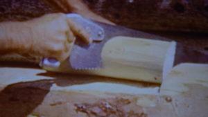 Dick Proenneke tools panel saw short