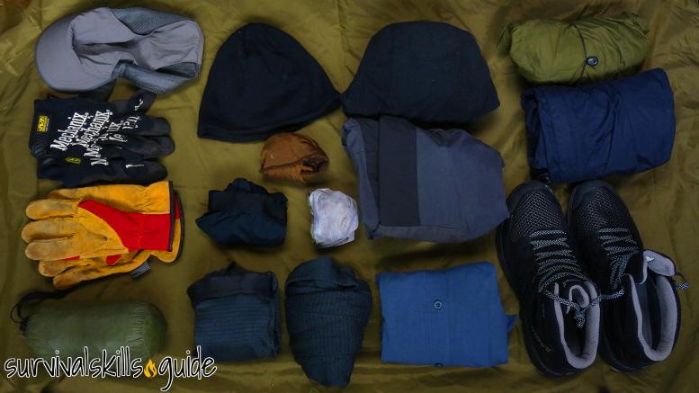 bug out bag list clothes
