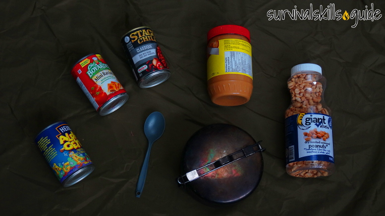 bug out bag list food