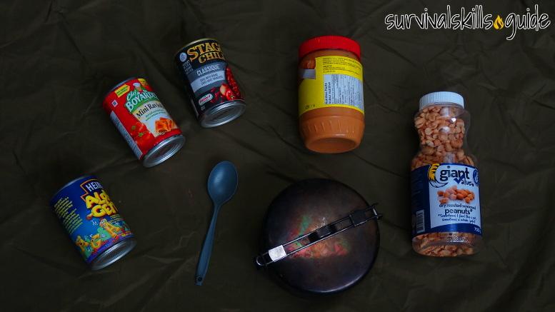 bug out bag list food