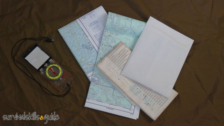 bug out bag list navigation