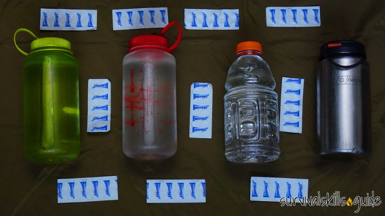 bug out bag list water