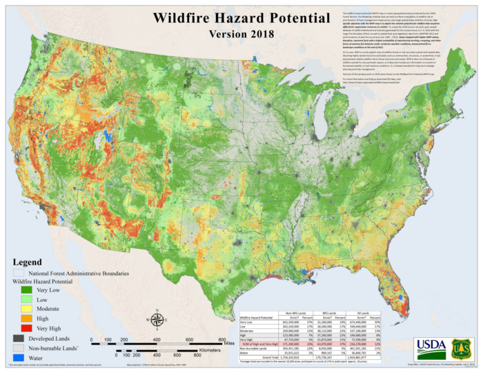 bug out bag list wildfire risk map