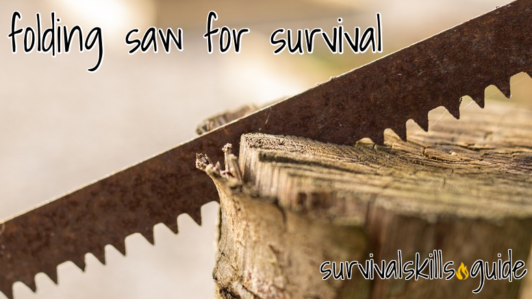 Folding saw for long term survival