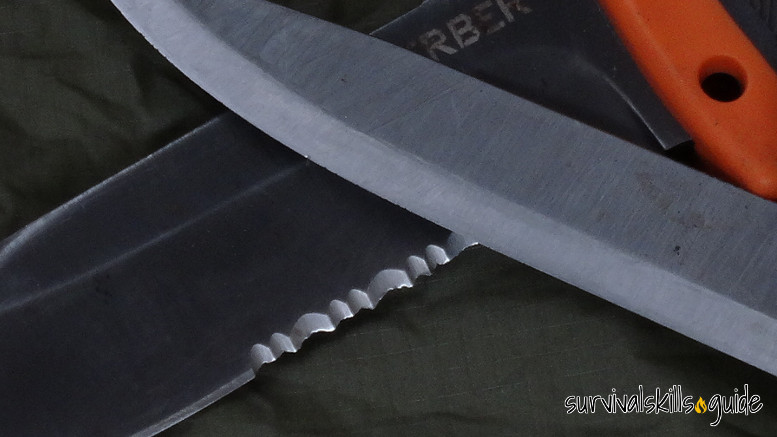 survival knife non serrated