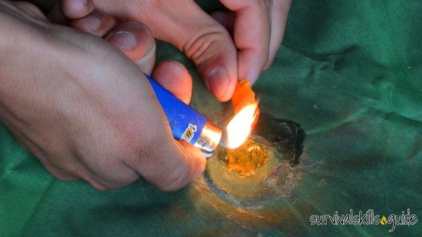 reusing hot glue from ferro rod handle