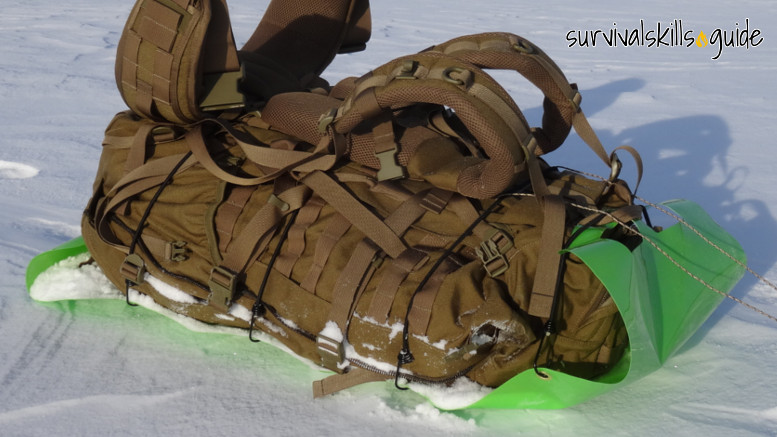 ultralight bug out bag sled