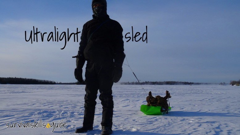 ultralight sled bug out bag survival