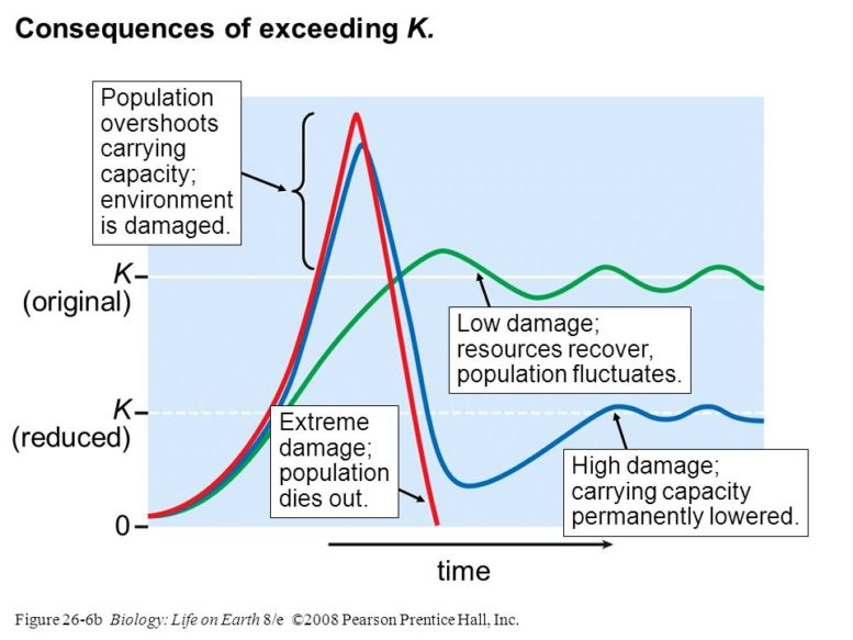 Responding to collapse resilience carrying capacity
